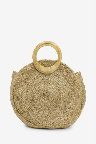 124449d51 Buy Accessorize Nude Mila Circle Handle Straw Bag from Next Ireland