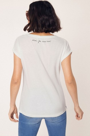 2b0e378ea2a0 Buy Oasis Natural Vacay Postcard Print Tee from the Next UK online shop