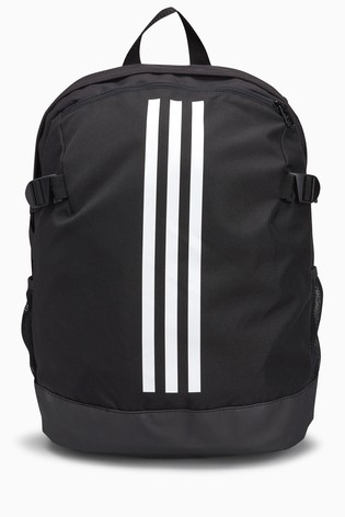 Buy adidas Black 3 Stripe Backpack from the Next UK online shop e4dd0e9bb8d55