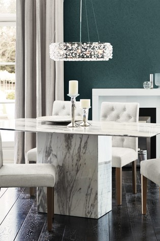Charmant Jura White Marble Dining Table By Alfrank