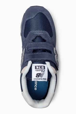 blue new balance 574 velcro