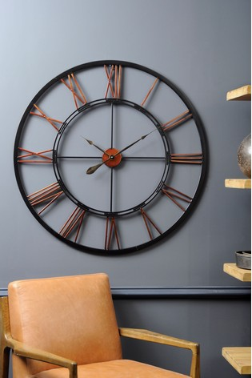 Buy Libra Oversized Metal Skeletal Wall Clock From The Next Uk Online Shop