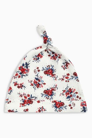 23f76169f36 Buy Floral Print Tie Top Hats Three Pack (0-18mths) from Next Ireland