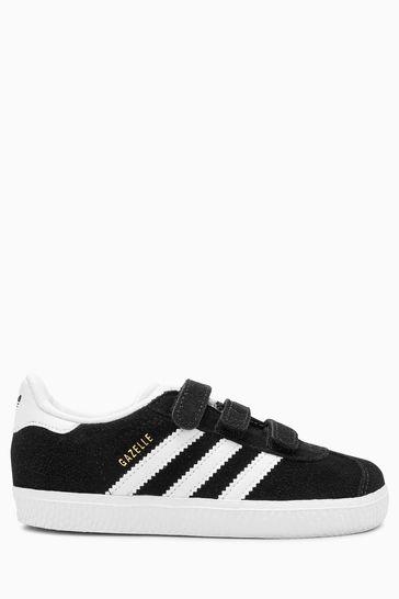 bb676df52b7 Čierna Detské tenisky so suchým zipsom Adidas Originals Gazelle ...