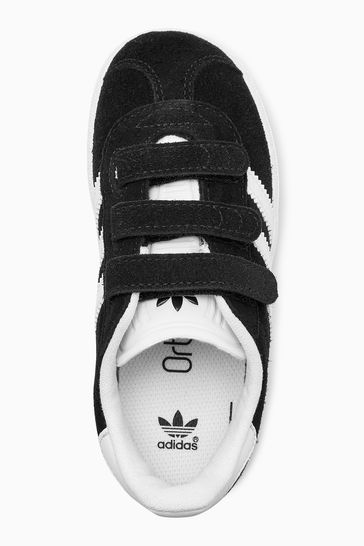 cc3e9b03666 ... Čierna Detské tenisky so suchým zipsom Adidas Originals Gazelle ...