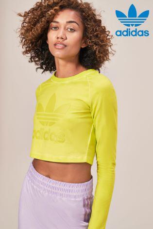 55ba8f0ba0aa1 Buy adidas Originals Yellow Dye Crop Tee from Next Ireland