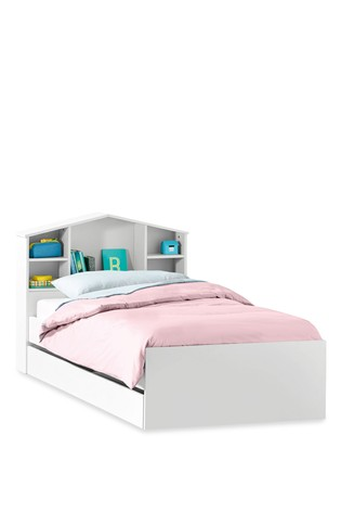wholesale dealer 6f448 962f2 House Headboard Single Storage Bed