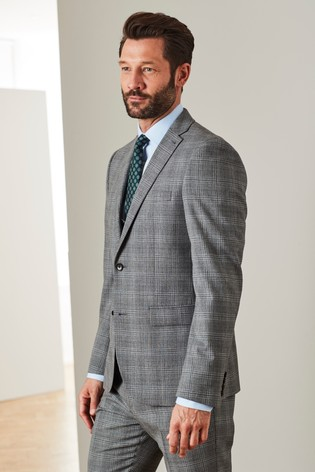 a682724de039 Buy Slim Fit TG di Fabio Signature Check Suit: Jacket from the Next ...