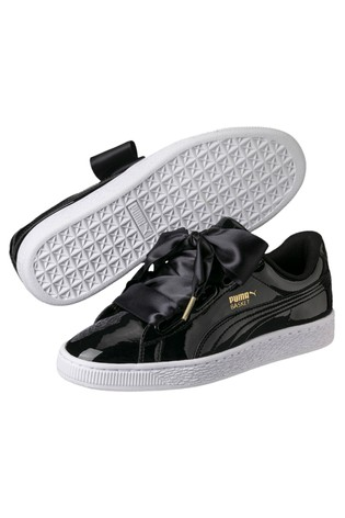 the best attitude ca9ec 20ccb Puma® Basket Heart Patent Trainers