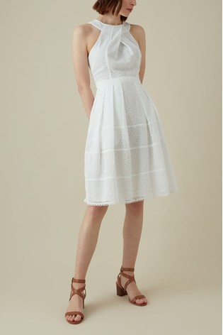 1f7ebba26a Buy Karen Millen White Panelled Broderie Dress from the Next UK ...
