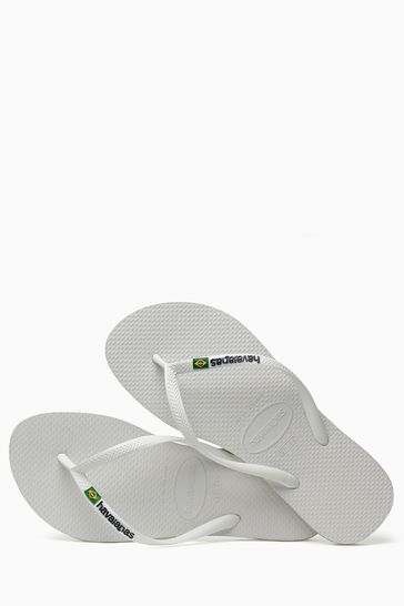 42deee56a823 Buy Havaianas® White Slim Brasil Logo Flip Flop from the Next UK ...