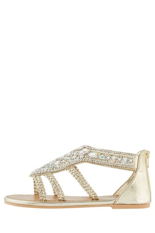 6ab2701e6784 Buy Monsoon Gold Rio Embellished Sandal from the Next UK online shop