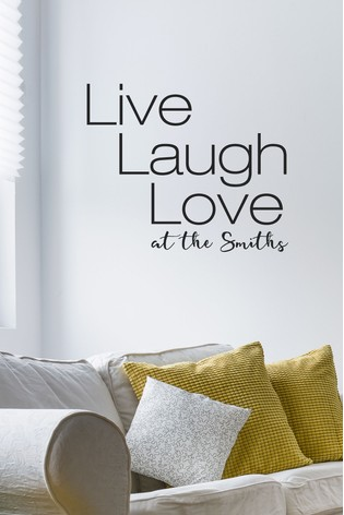 buy personalised live laugh love wall sticker by loveabode from the