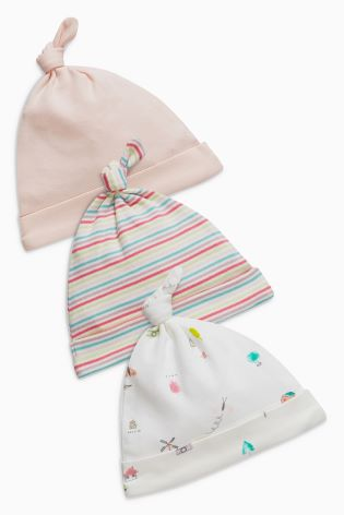 e9208a8ab1d Buy Delicate Print Tie Top Hats Three Pack (0-18mths) from Next Ireland