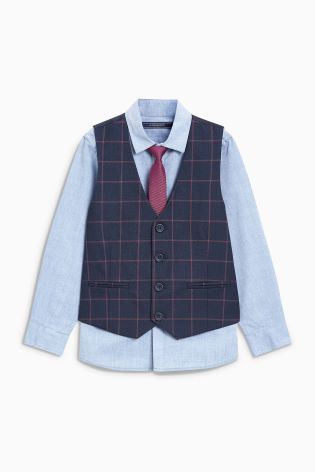 be51ef3884 Buy Check Waistcoat Set (12mths-16yrs) from Next Netherlands