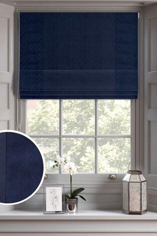Buy Hamilton Quilted Panel Velvet Roman Blind From The Next Uk Online Shop