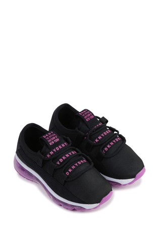 Buy DKNY Black Logo Trainers from the