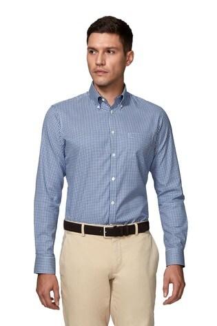 T.M.Lewin Mens  Slim Fit Royal Blue Oxford Shirt