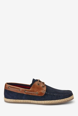 Buy Navy Suede Boat Shoes from the Next