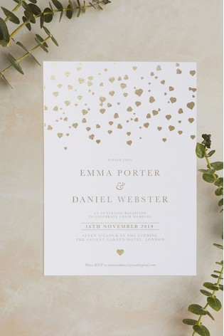 Buy Personalised Confetti Evening Invitation By Wedding Graphics