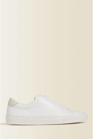 Buy Jigsaw White Myla Leather Trainers