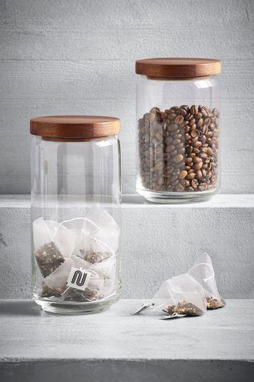 Buy 2 Pack Glass Storage Jars From The Next Uk Online Shop