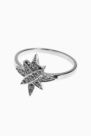 Buy Sterling Silver Cubic Zirconia Star Ring From The Next Uk Online Shop