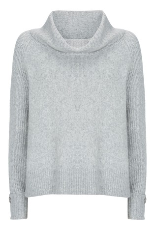 Button Detail Jumper Grey