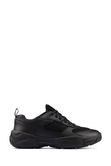 Buy Clarks Black Kuju Run Youths Shoes