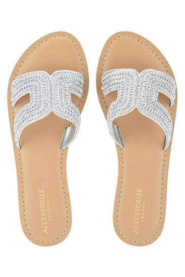 Accessorize Bella Beaded Sliders