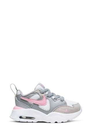 Buy Nike Grey/Pink Air Max Fusion
