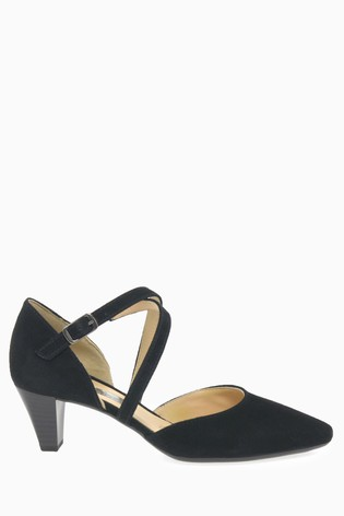 Buy Gabor Callow Black Suede Shoes from