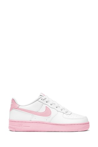 Buy Nike White/Pink Air Force 1 Youth