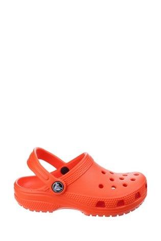 Buy Crocs™ Orange Kids Classic Slip-On