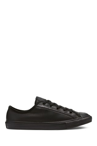 converse dainty black leather