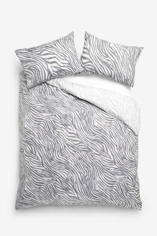 Buy Zebra Print Duvet Cover And Pillowcase Set From The Next Uk
