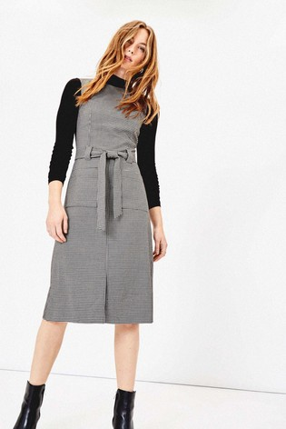 new arrive best sell info for Oasis Natural Dogtooth Shift Dress