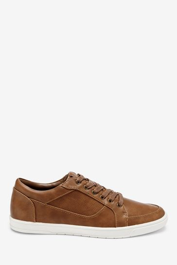 Tan Perforated Trainers from the Next