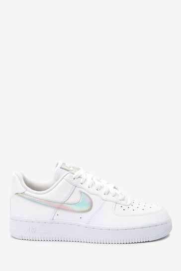 Buy Nike White Iridescent Air Force 1