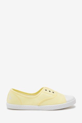 Buy Yellow Laceless Canvas Shoes from
