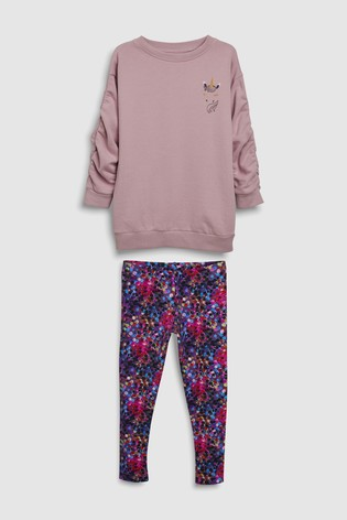 43ca62e7c452 Buy Unicorn Crew And Leggings Set (3-16yrs) from the Next UK online shop