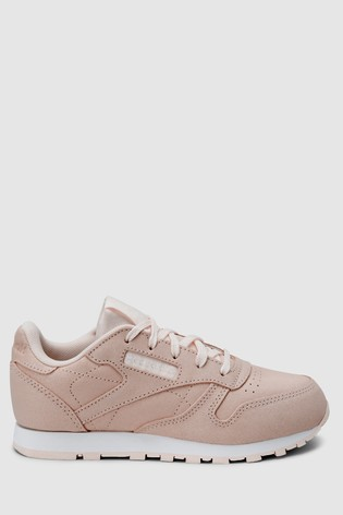 4a946cf18ff6f Reebok Pink Classic Leather Junior  Reebok Pink Classic Leather Junior ...