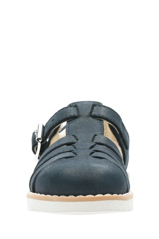 5703f1e12eac3 Buy Clarks Blue Crown Stem T-Bar Sandals from the Next UK online shop