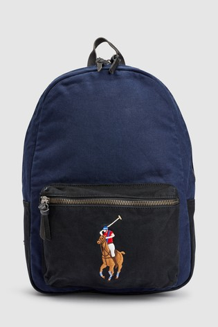 Canvas Navy Lauren Polo Ralph Backpack LUpMVqSzG