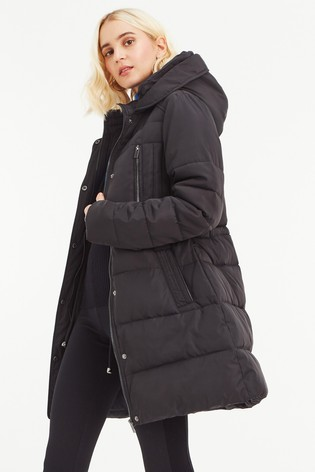 1f025df9b4b5 Buy Oasis Black Whitley Long Padded Jacket from Next Ireland