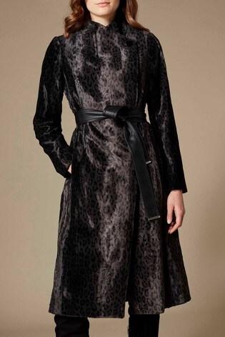 af3f39cb27c Buy Karen Millen Leopard Print Pony Coat from the Next UK online shop