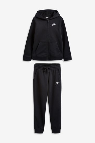 víctima Meyella cero  Buy Nike Sportswear Black Fleece Tracksuit from the Next UK online shop