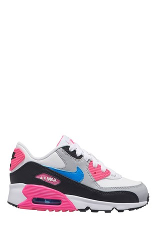 Nike WhitePink Air Max 90 Junior Trainers