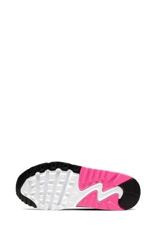 Nike WhitePink Air Max 90 Junior Trainers