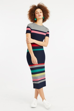 7b665ea4706d Buy Oasis Natural Rainbow Marl Stripe Tube Dress from Next Slovakia